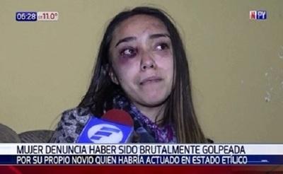 Joven denunció ser brutalmente golpeada por su pareja