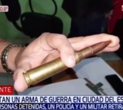 Incautaron arma antiaérea que estaba en poder de policía y militar