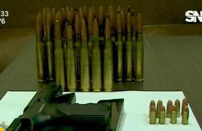 Encuentran arsenal de guerra en el este del país