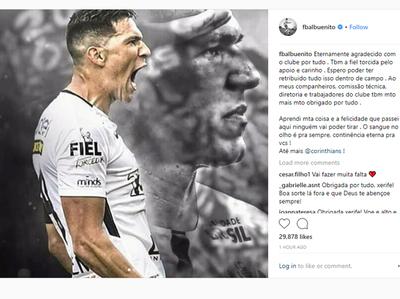 Balbuena se despidió del Corinthians