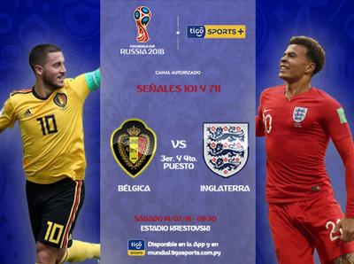 Bélgica e Inglaterra van por el tercer puesto