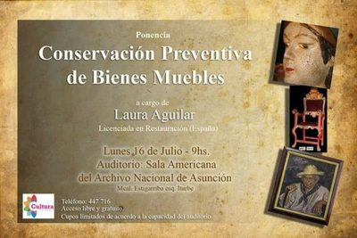 Secretaría Nacional de Cultura invita a charla sobre conservación preventiva
