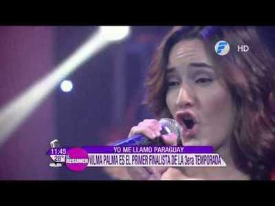 Vilma Palma primer finalista de la tercera temporada en Yo Me Llamo Py