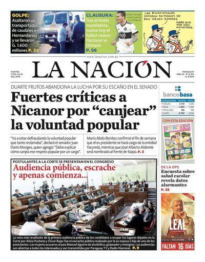 Edición impresa, 17 de julio de 2018