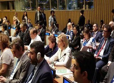 Pucheta disertó en la asamblea de la ONU