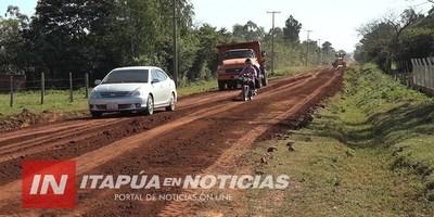 INTERVIENEN APROXIMADAMENTE 10 KM DE CAMINOS VECINALES EN GRAL. DELGADO.
