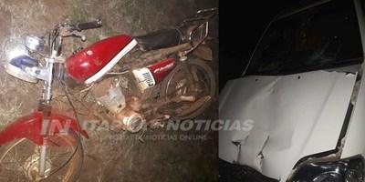 ACCIDENTE DEJA DOS MOTOCICLISTAS HERIDOS EN LA PAZ.
