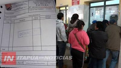 """HOSPITAL: COBRAN ARANCELES EN CONCEPTO DE """"DONACIÓN"""""""