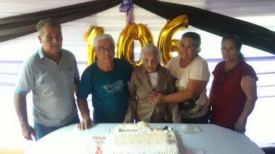 Abuela festejó 106 años y es la más longeva de Maracaná