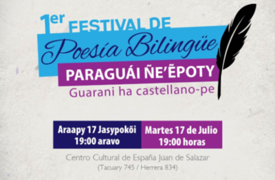 Festival de poesía bilingüe se realiza hoy en el Salazar