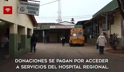 """Cobran """"donaciones"""" por servicios gratuitos en hospital público"""