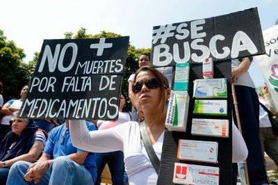 Continúa protesta del sector Salud en Venezuela