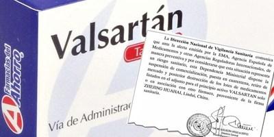TRAS ALERTA DIRECCIÓN NACIONAL SANITARIA RETIRÓ LOTES DE DROGA VALSARTÁN