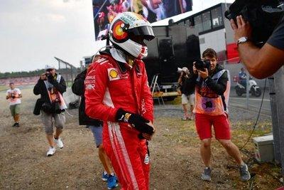 "Vettel: ""He tirado la carrera"""