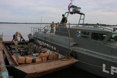 Balacera y detenidos con droga en el río Paraguay
