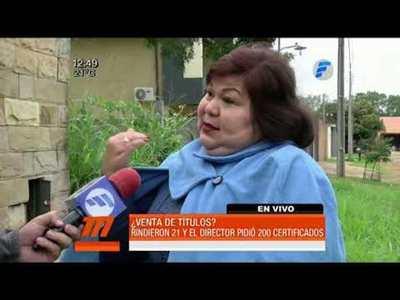 Denuncian presunta venta de títulos en colegio de Aregua