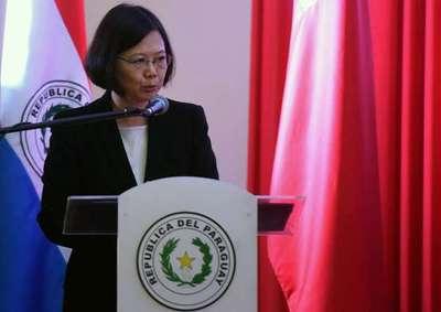 China trata de trabar viaje de taiwanesa Ing-wen a Paraguay