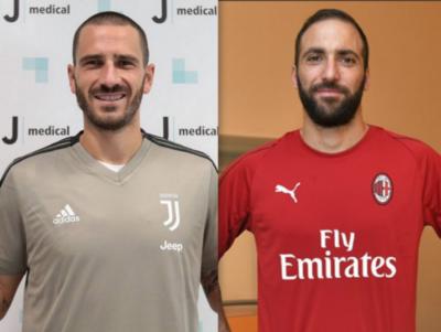 HOY / Higuain pasa al Milan, con intercambio Bonucci-Caldara entre clubes