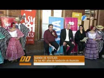 Agenda de festejos de la fundación de Asunción