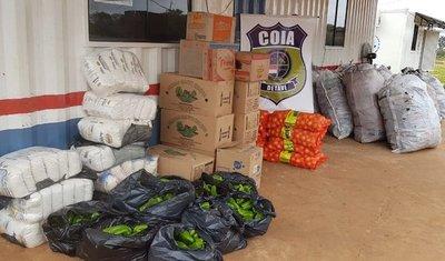 Incautan alimentos, ropas y artículos de limpieza de contrabando