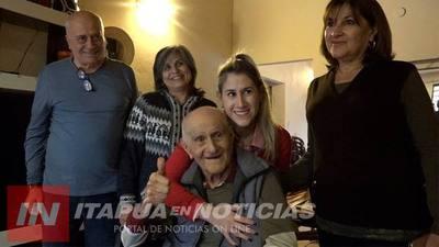 ASÍ CELEBRAN LOS 103 AÑOS DEL EXCOMBATIENTE CIRIACO ARIAS