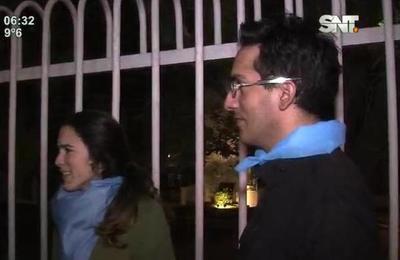 Apoyo pro vida frente a la embajada de Argentina
