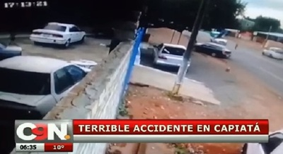 Video muestra impactante choque debido a imprudencia