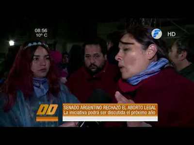 Congreso argentino rechaza legalización del aborto
