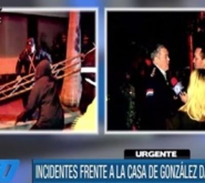 Mujer fue derivada a hospital durante escrache contra González Daher
