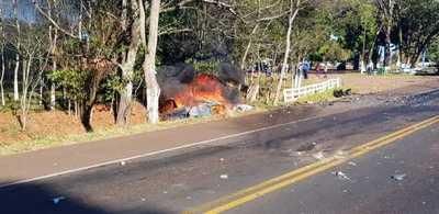 Choque fatal sobre la ruta VII, en ciudad de Caaguazú