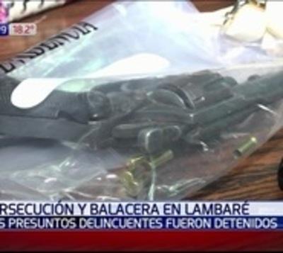 Detienen a malvivientes tras una persecución y balacera en Lambaré