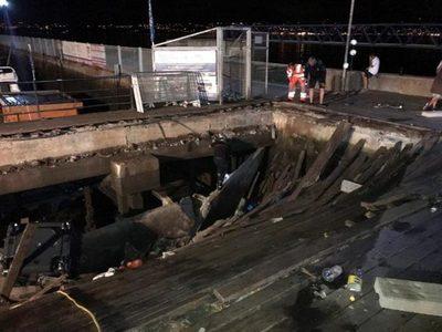 Desplomo de pasarela deja más de 300 heridos en España