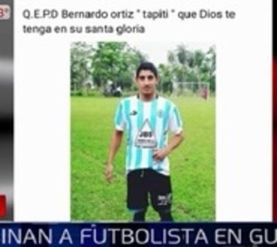 Asesinan a joven futbolista en Guairá