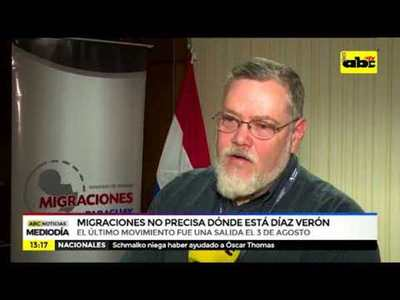 Migraciones no precisa dónde está Díaz Verón