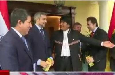 Mario Abdo recibió a Evo Morales y su comitiva