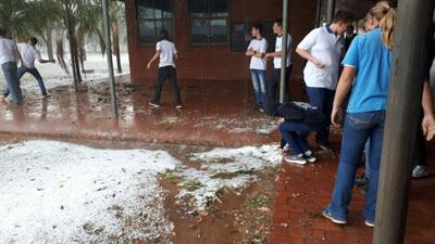 Granizada deja  daños en el Chaco