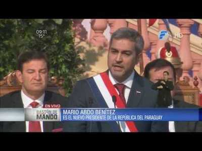 Primer discurso de Mario Abdo Benitez como Presidente del Paraguay