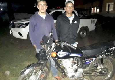 Motochorros acusados de seguidilla de asaltos detenidos tras persecución y enfrentamiento