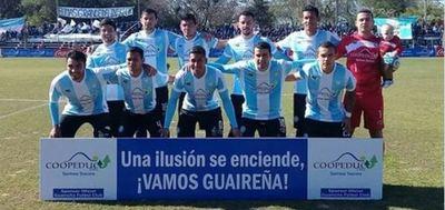 Guaireña Goleó 3-0 a River Plate