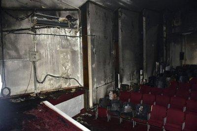 Incendio en Cine Teatro del Puerto deja un herido
