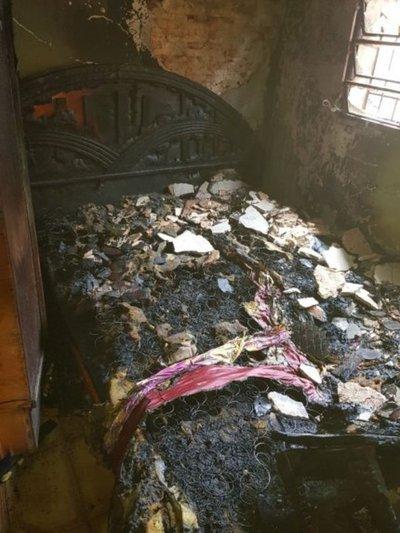 Un fosforito habría ocasionado el incendio de una casa
