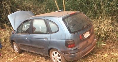 Encuentran sospechoso automóvil blindado