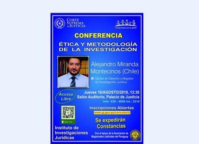 Conferencia de IIJ sobre Ética y Metodología de la Investigación