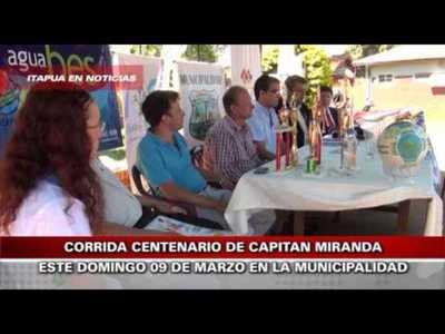 CORRIDA DEL CENTENARIO EN CAPITÁN MIRANDA