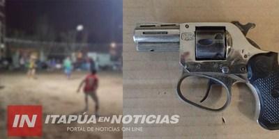 TOMÁS R. PEREIRA: PARTIDO DE PIKIVOLEY TERMINÓ CON UN HERIDO DE ARMA DE FUEGO.