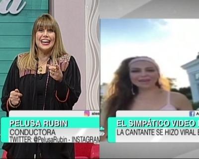 Pelusa Rubín se animó al desafío de la cantante Thalia