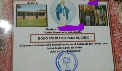 """Iglesia no desea hablar de """"Bono solidario para el cielo"""""""