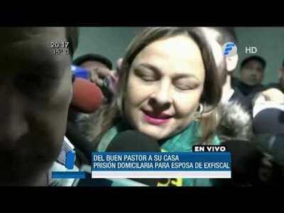 Otorgan arresto domiciliario a esposa de Díaz Verón