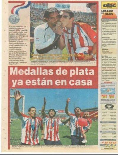 Paraguay logra medalla de Plata en Atenas 2004