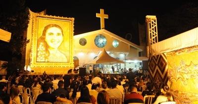 Retablo de Chiquitunga en exposición en la Catedral San Blas